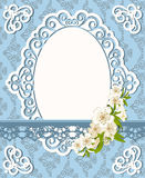 Lace ornaments and flowers. Stock Photo