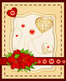 Lace ornaments and flowers. Royalty Free Stock Photos