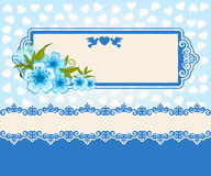 Lace ornaments and flowers. Royalty Free Stock Photo