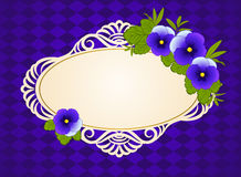 Lace ornaments and flowers. Royalty Free Stock Images