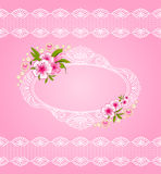 Lace ornaments and flowers. Royalty Free Stock Photography