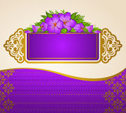 Lace ornaments and flowers. Royalty Free Stock Image