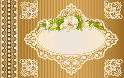 lace ornaments and flowers Stock Photography