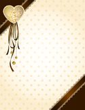 Lace ornaments and heart Stock Images