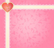 lace ornaments and heart Royalty Free Stock Images