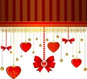 Lace ornaments and heart Royalty Free Stock Photos