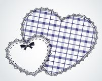 Lace ornaments and heart Royalty Free Stock Image