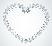 Lace ornaments and heart Royalty Free Stock Photo
