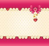 Lace ornaments and heart and bow Royalty Free Stock Photography