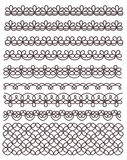 Lace ornaments set Royalty Free Stock Photos