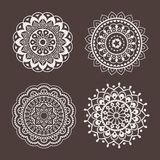 Lace ornaments, stencil Stock Photography