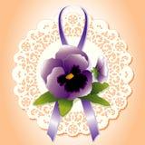 lace pansy victorian Стоковое Фото