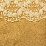Lace and  paper background Royalty Free Stock Photography