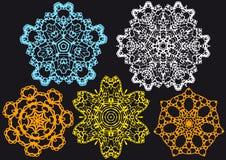 Lace pattern,. Set of lace doilies,  pattern Stock Photography