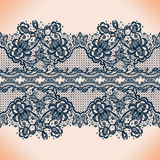 Lace pattern. Abstract lace ribbon seamless pattern with elements flowers. Template frame design for card. Lace Doily. Can be used for packaging, invitations stock illustration