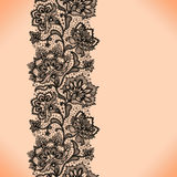 Lace pattern. Abstract Lace Ribbon Vertical Seamless Pattern. Template frame design for card. Lace Doily. Can be used for packaging, invitations, and template Stock Photo