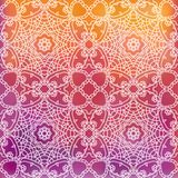 Lace pattern background with indian ornament Stock Image