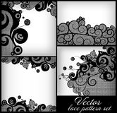 Lace pattern background set Stock Photos