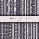 Lace pattern borders Royalty Free Stock Photography