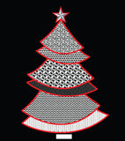 Lace pattern christmas tree Stock Photography