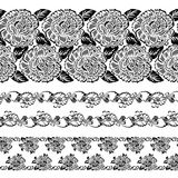Lace pattern design set. Lace pattern design on set Royalty Free Illustration