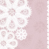 Lace Pattern Floral Background Royalty Free Stock Images