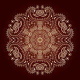 Lace pattern. Lace ornament, circular pattern, vector image Stock Photo
