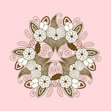 Lace pattern with  paisley floral elements Royalty Free Stock Images