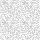 Lace pattern. Seamless gray floral lace pattern stock illustration
