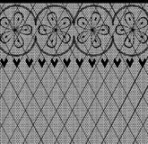 Lace Pattern. A lace stocking background in a fishnet style with hearts and flowers royalty free illustration