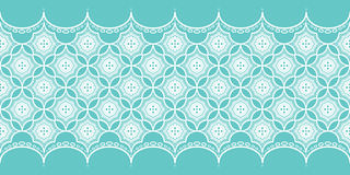Lace Pattern on turquoise background Stock Photo