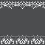 Lace pattern vector greeting card or wedding or birthday party invitation, ornamental repetitive design with flowers and swirls in royalty free illustration