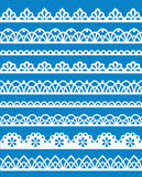 Lace patterns. Set of different lace patterns. EPS8 Stock Image
