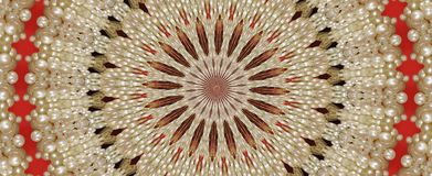 Lace and pearl. Lacy pearl kaleidoscope background Stock Image