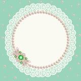 Lace pearl napkin Stock Photo