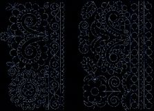 Lace pearls background Royalty Free Stock Photos