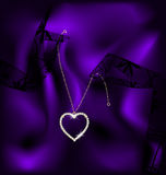 Lace and pendant heart Royalty Free Stock Photos