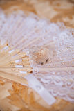 Lace and perfume for wedding Stock Image