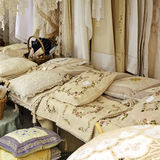 Lace pillows in the souvenir shop Royalty Free Stock Photo