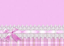 Lace and Pink Ribbon Border Royalty Free Stock Image