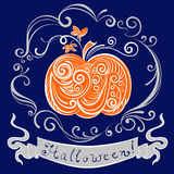 Lace pumpkin for hallowmas Stock Image