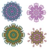 Lace purple floral colorful ethnic ornament Royalty Free Stock Photography