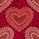 Lace. Red Seamless Pattern. Stock Photos