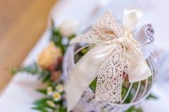 Lace ribbon decoration Stock Photography