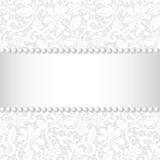 Lace, ribbon and pearl Royalty Free Stock Images