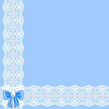 Lace ribbon and pearls Royalty Free Stock Images