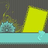Lace Ribbon on Retro Background Stock Photo