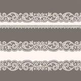 Lace Ribbon. Lace Ribbons. Horizontal Seamless Patterns Royalty Free Stock Photos