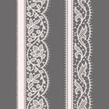 Lace Ribbon. Seamless Pattern. Set. Royalty Free Stock Images