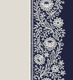 Lace ribbon vertical seamless pattern. Royalty Free Stock Image